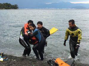 PADIレスキュー ダイビングレスキュー レスキューダイバー レスキュー海洋実習 茨城ダイビング クレセント