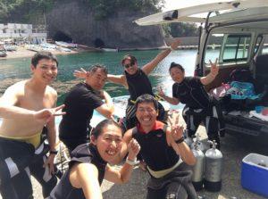 日本海ダイビング 佐渡島ダイビング フリーウェイ 日本の夏 茨城ダイビング クレセント